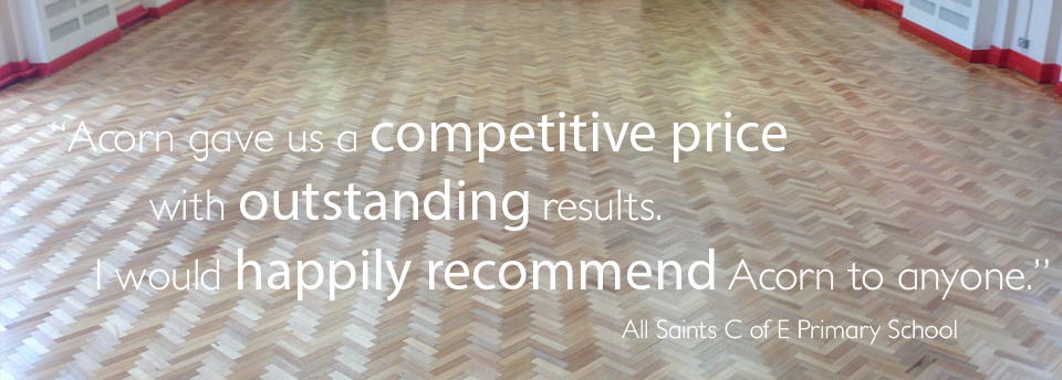 Wood Floor Sanding testimonial from All Saints C of E Primary School