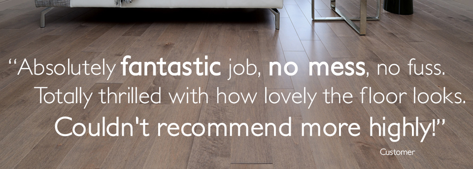 Floor Sanding Bristol testimonial from a customer.