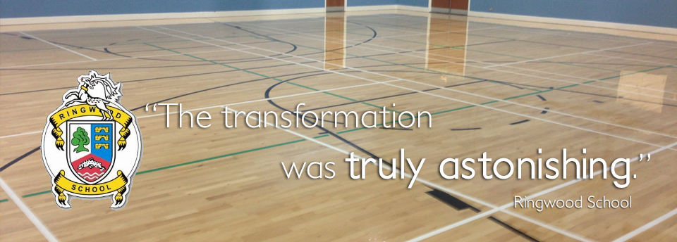Floor Sanding testimonial from Ringwood School.